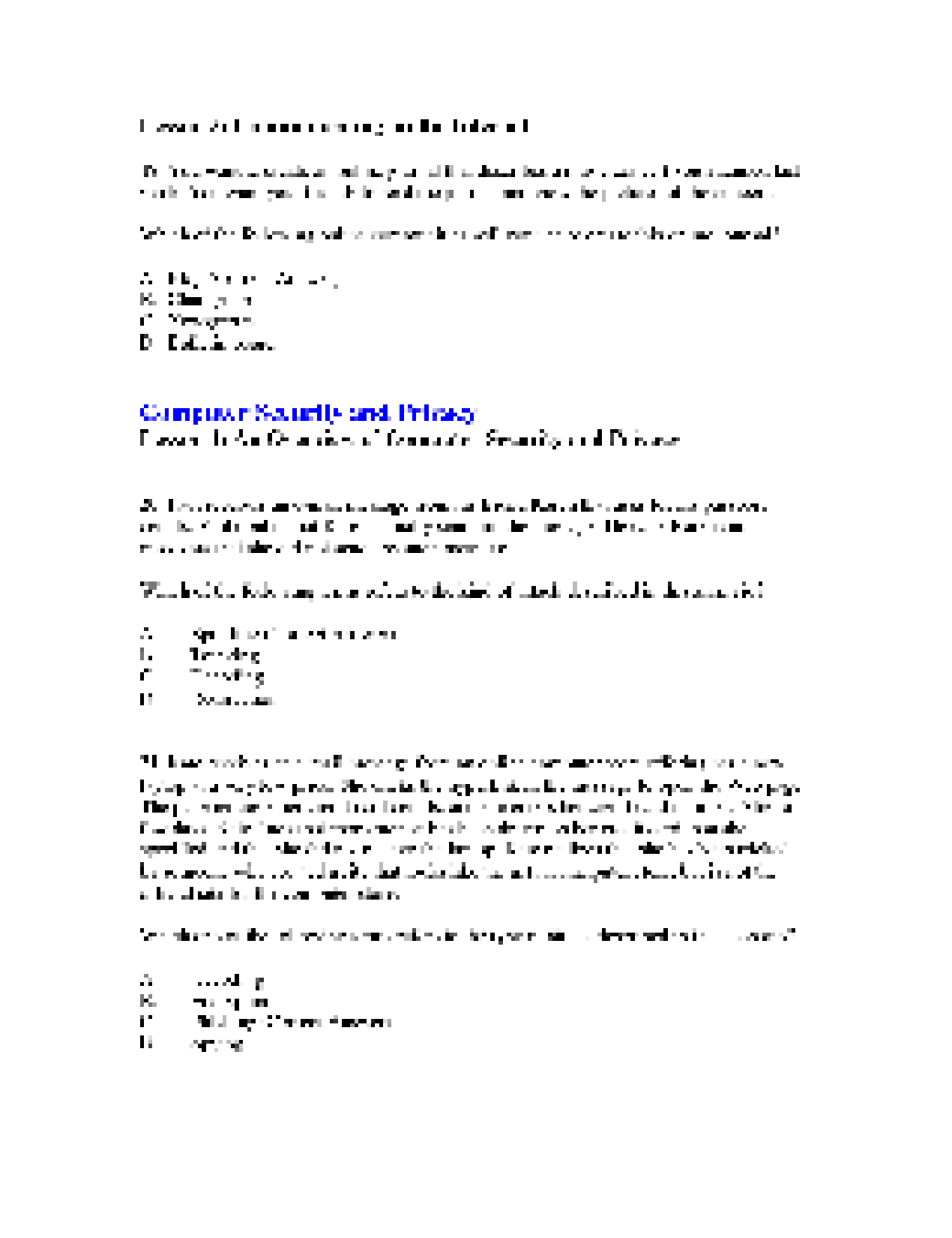 Summary Microsoft Digital Literacy Certificate Test Item File
