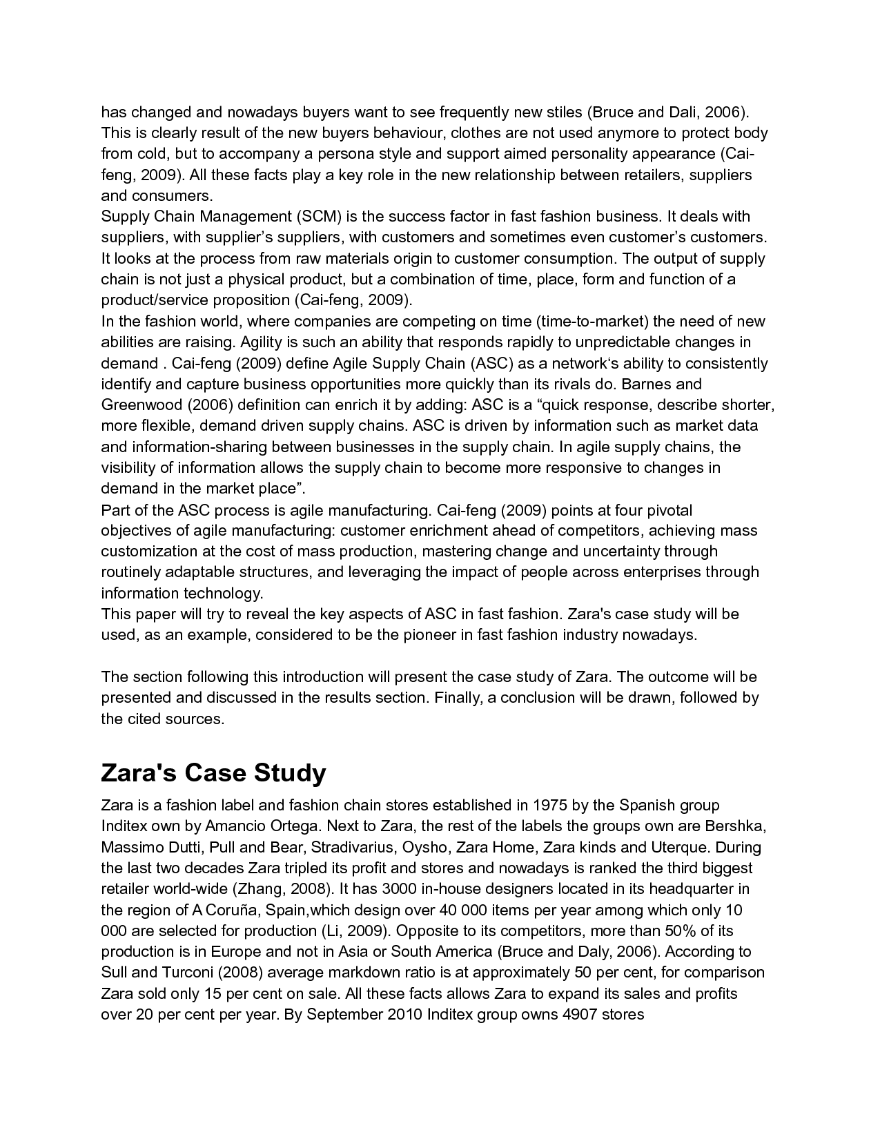agile supply chain zara s case study analysis  ukabstractpurpose the purpose of this paper is to assess and document the key aspects in zara s success