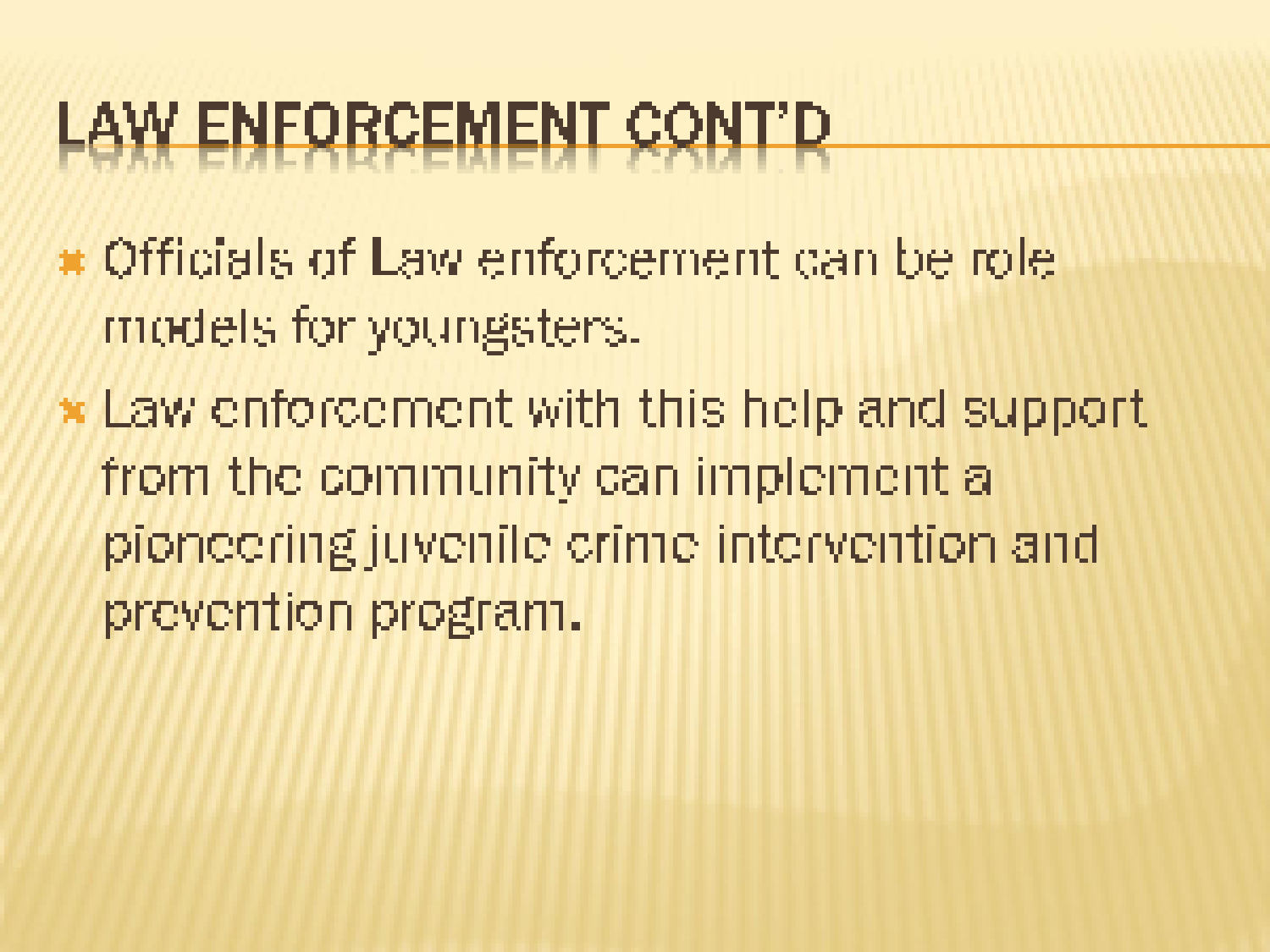 future of the juvenile justice system presentation and paper Autism now center for future planning® chapter excellence  people with  disabilities in the criminal justice system: promising  criminal justice and  disability® (nccjd) notes the decline in juvenile crime  the webinar will  feature brief presentations from multiple white paper authors, and webinar.
