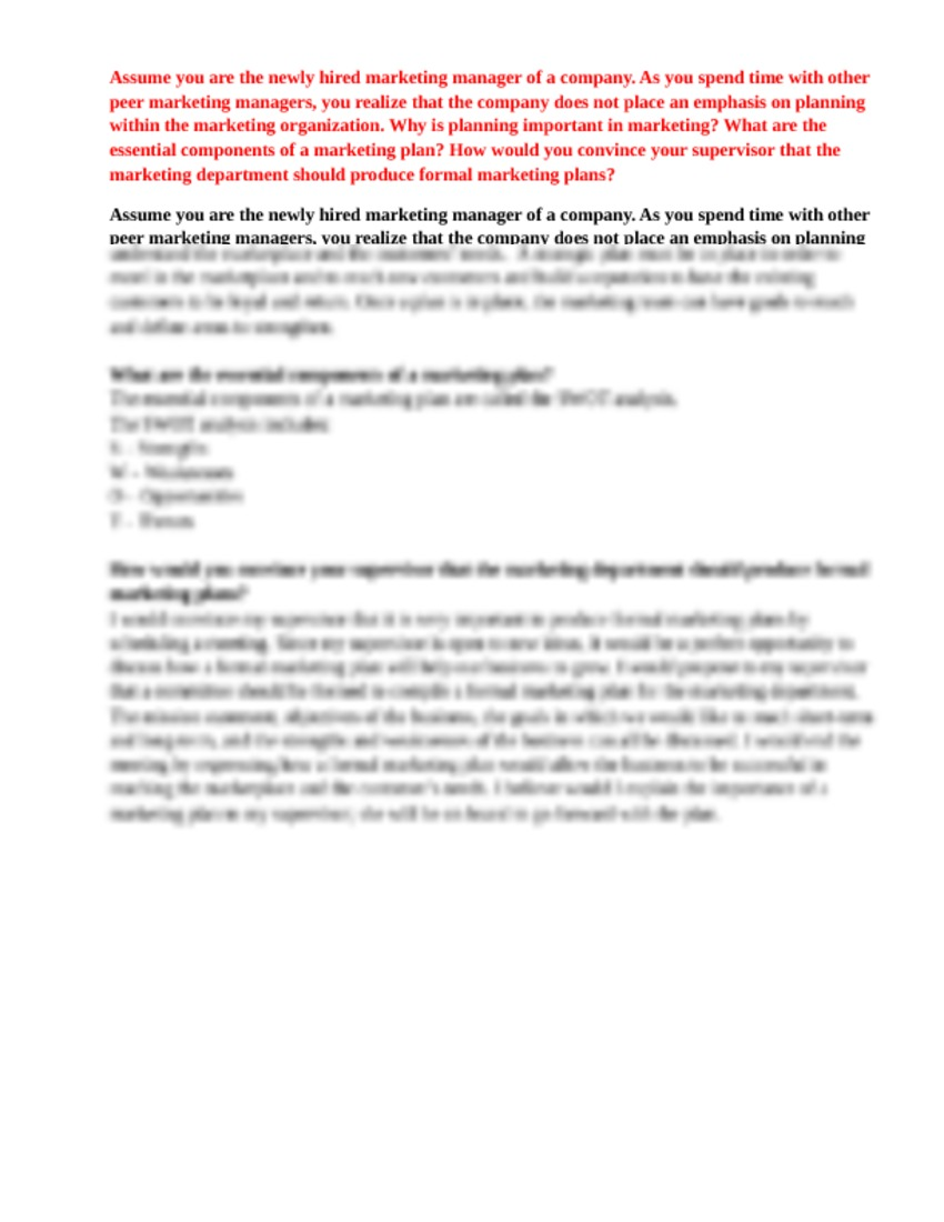mkt 421 week 1 assignment essay Mkt 421 week 5 signature assignment: the entrepreneurial marketing manager about your signature assignment signature/benchmark assignments are designed to align with specific program student learning outcome(s) in your program.