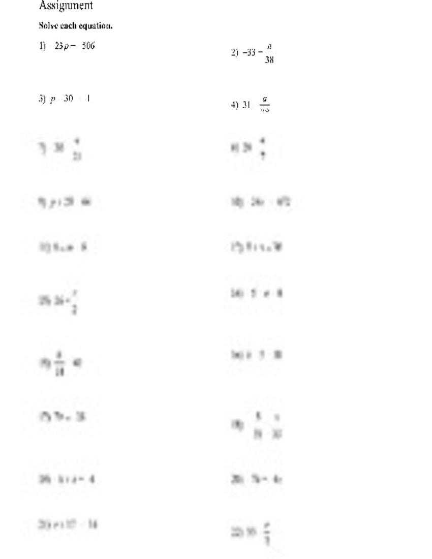 Worksheets One Step Equations Worksheet solution one step equations worksheet studypool