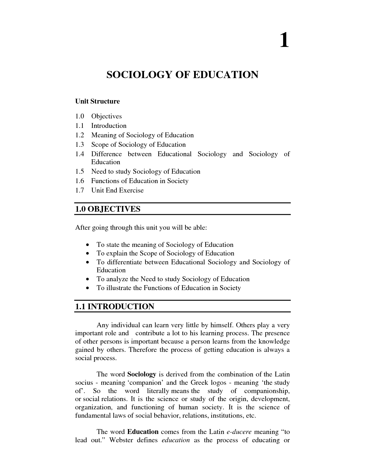 solution sociology of education studypool