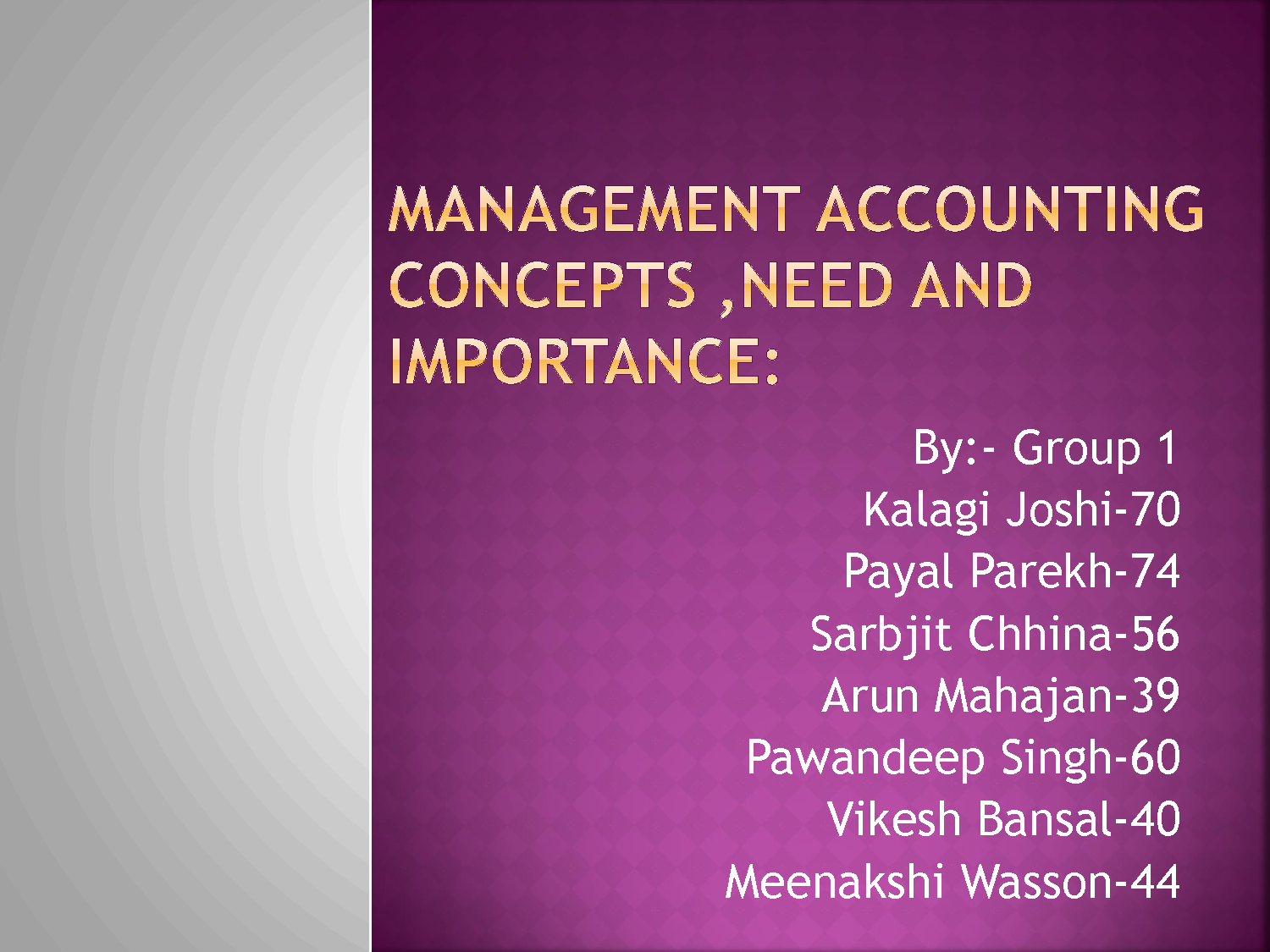 what are the most important and least important objective of accounting concepts no 1 Statement of financial accounting concepts no 2 qualitative characteristics of accounting information  objectives and concepts in the statements of financial.