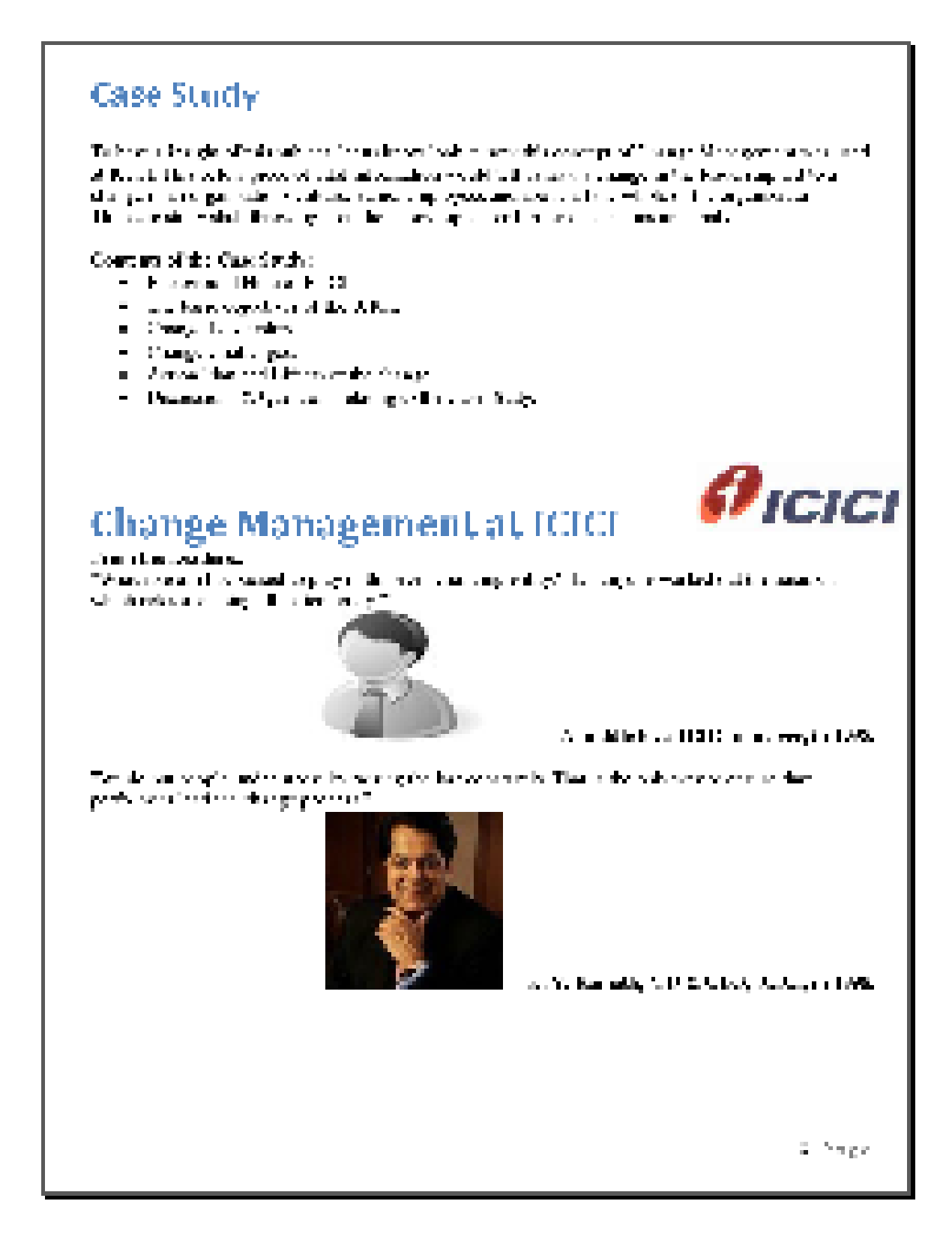 case study on icici bank how