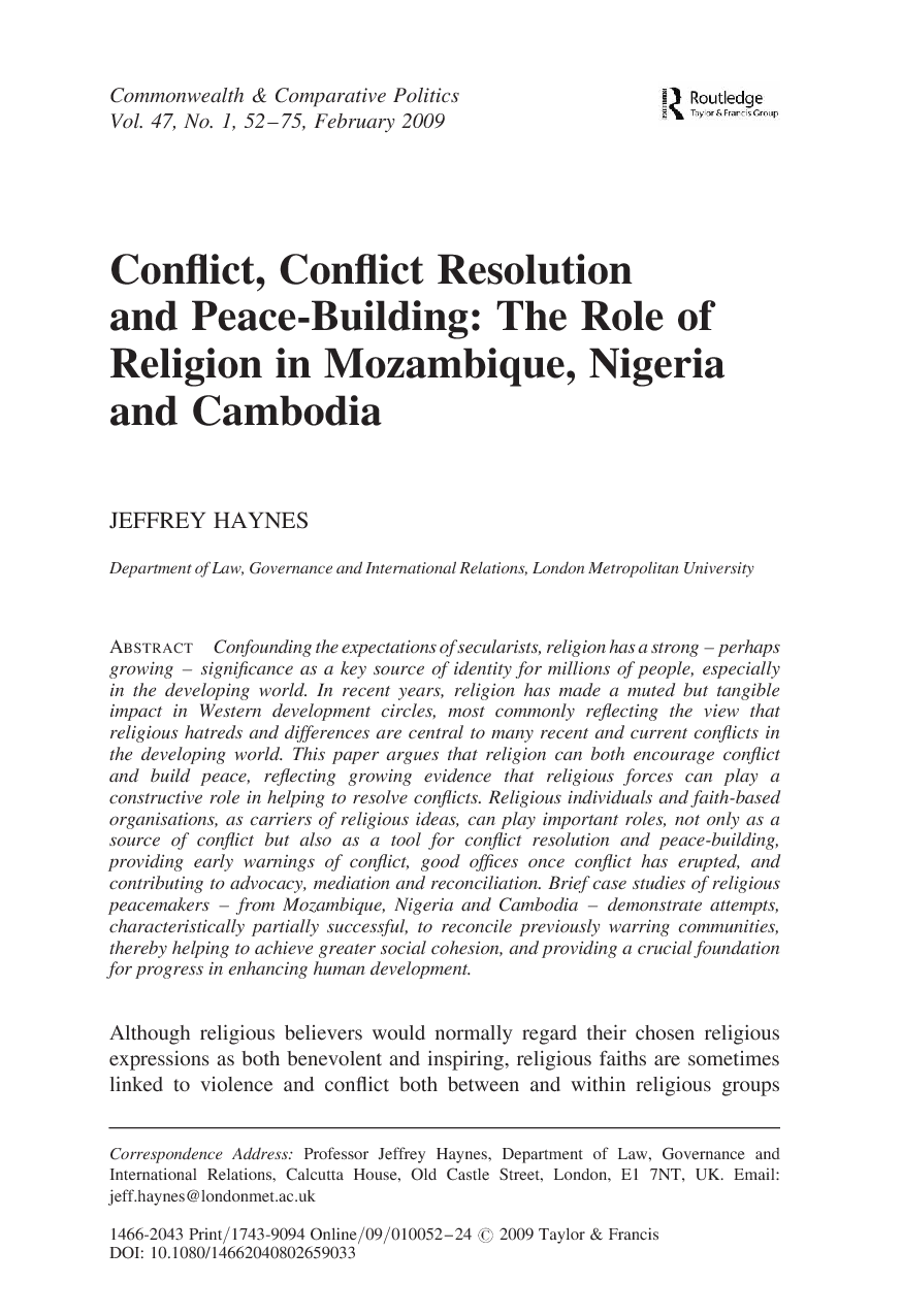 solutions to religious conflict in nigeria