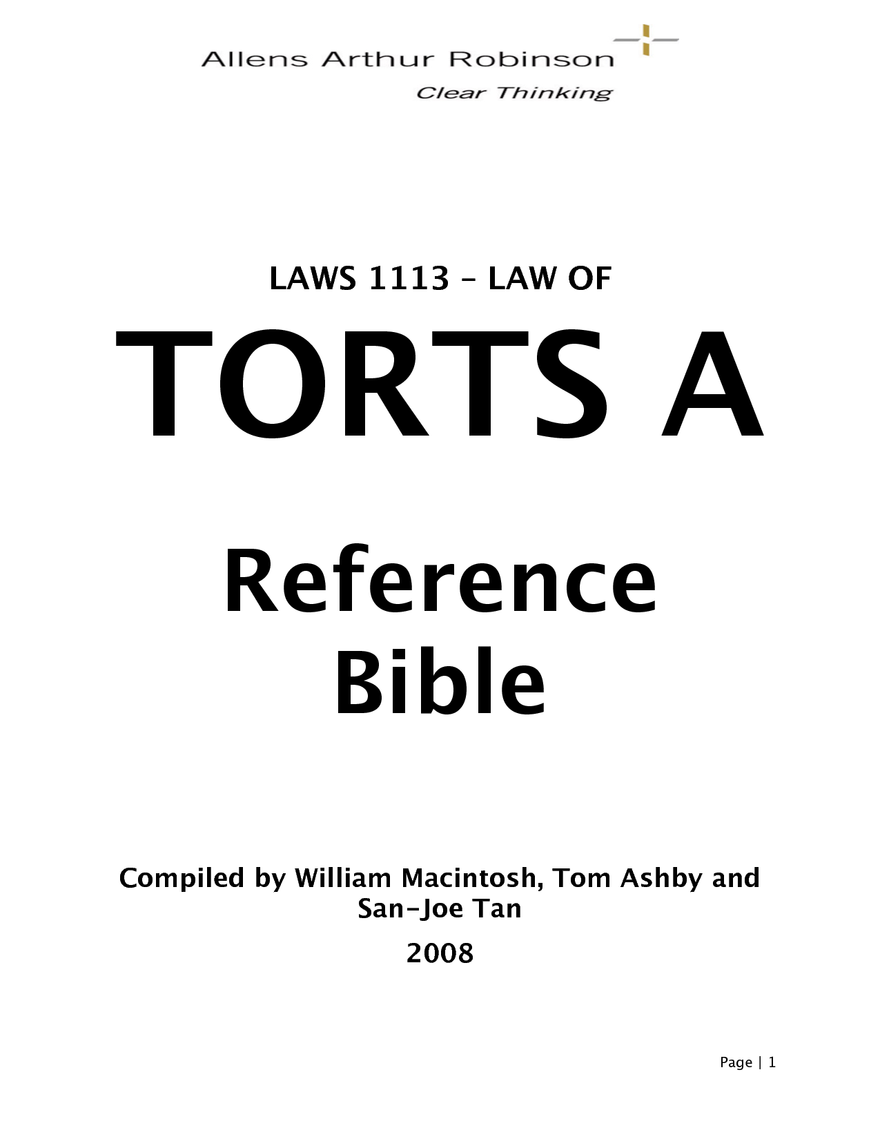torts notes Ads related to law of torts notes tort law wwwfindlawcom/practiceareas search laws, regulations, codes by practice areas & state free info the law of torts.