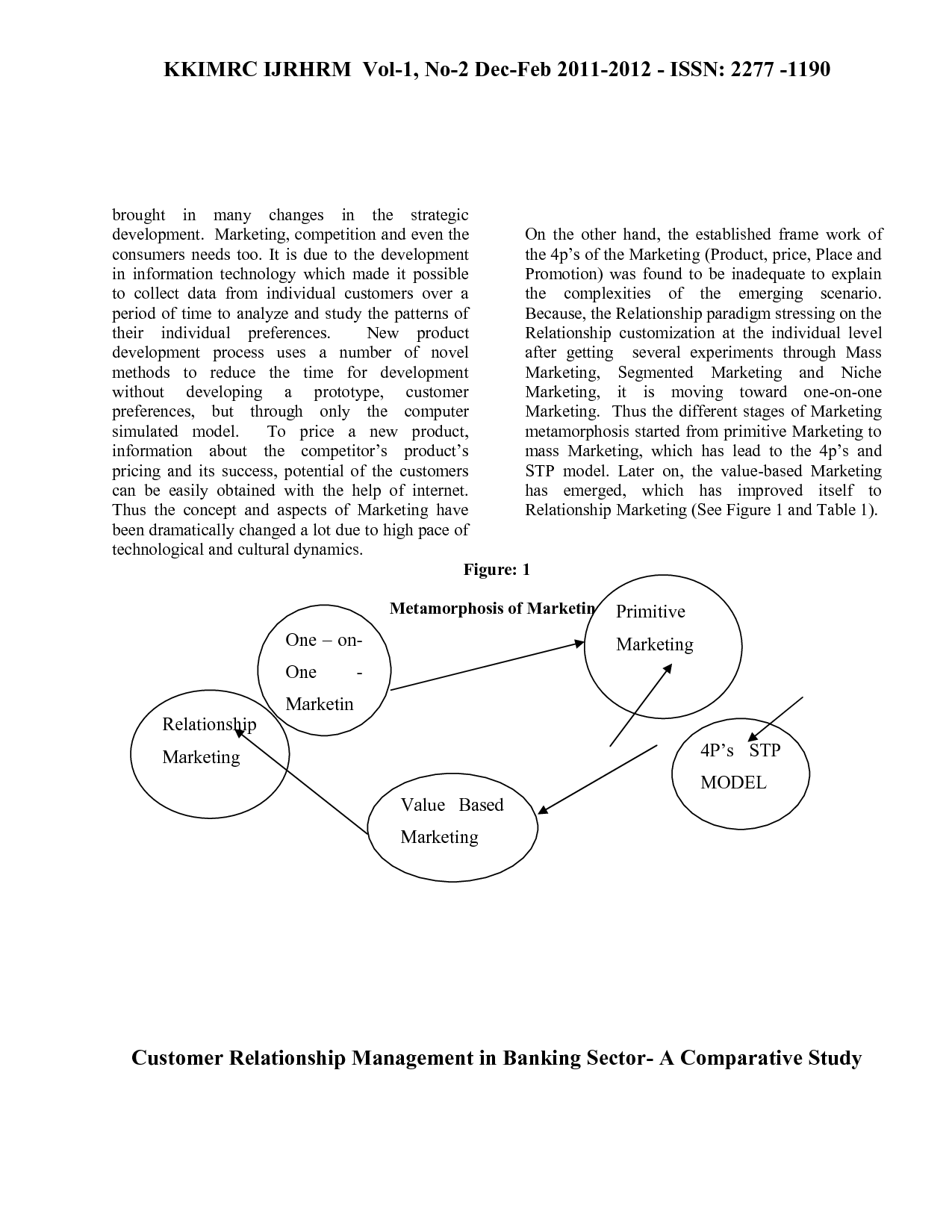 e enabled relationship management in banking sector A dissertation on customer relationship management and importance of relationship marketing in the banking sector this project report is being submitted as a part of the requirements of the mba program of bangalore university.