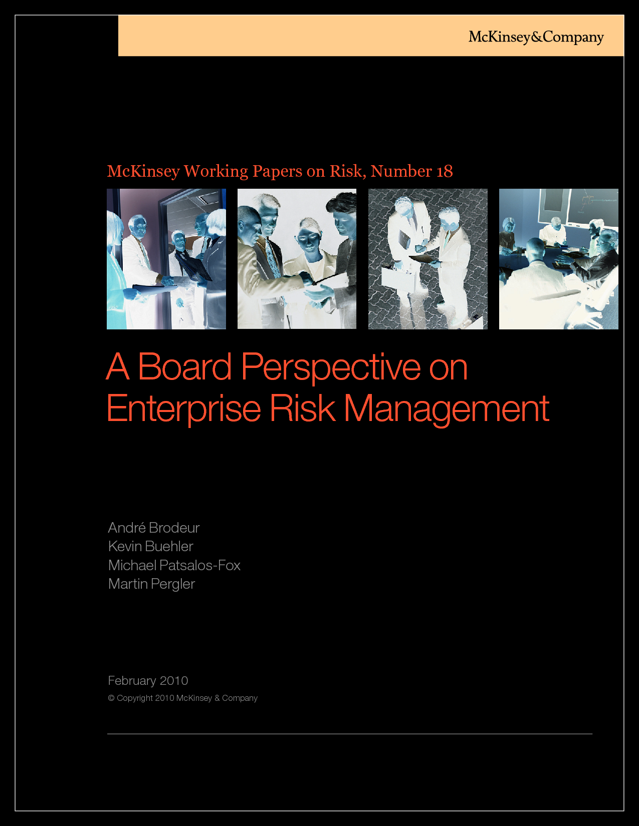 research papers on enterprise risk management Effective erm stakeholder engagement march the joint risk management research committee announces the release of a new report on enterprise risk management (erm) stakeholder engagement authored by kailan shang, this report examines current practices and identifies challenges to achieving erm stakeholder buy-in.