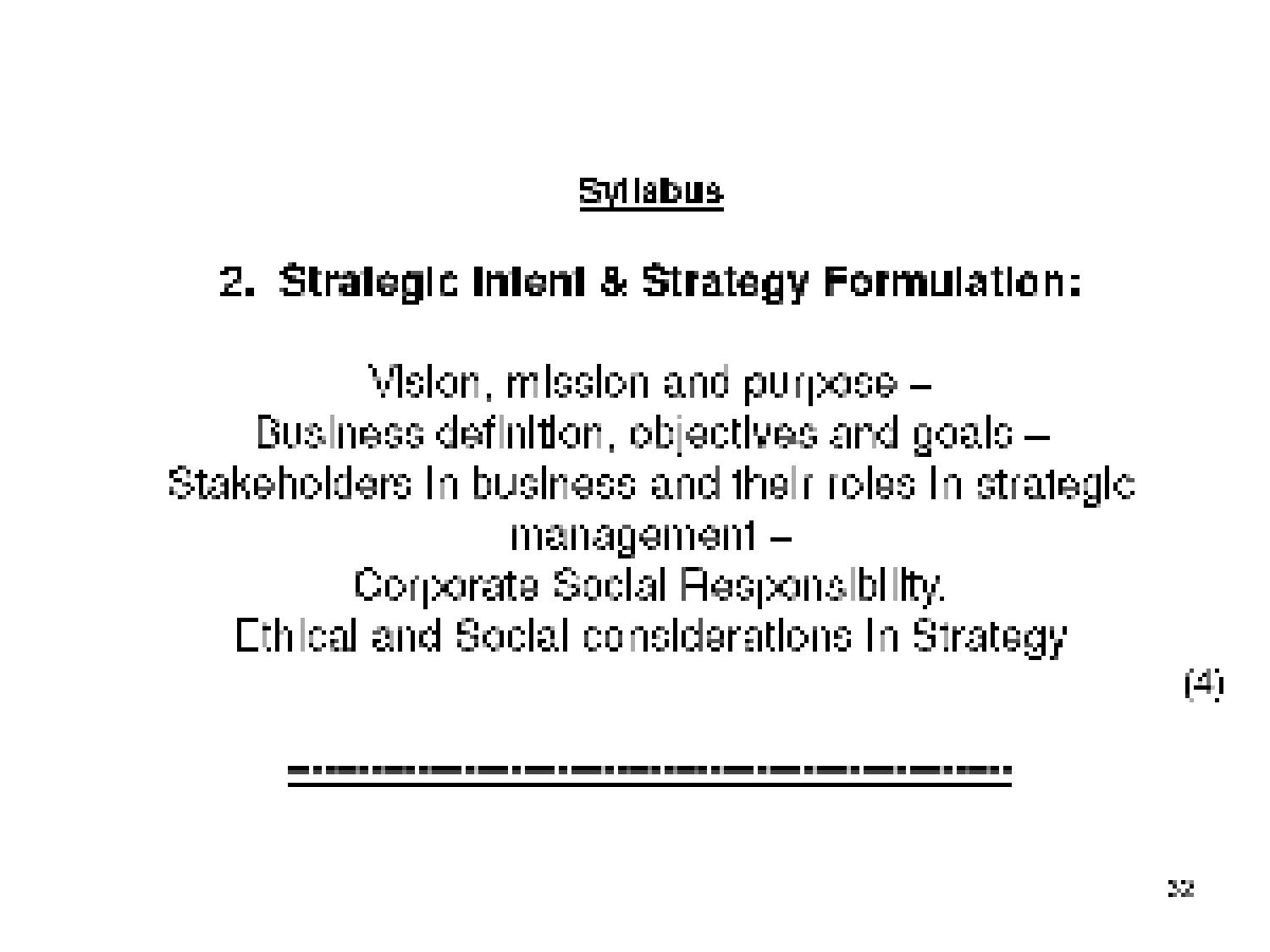 business policy formulation