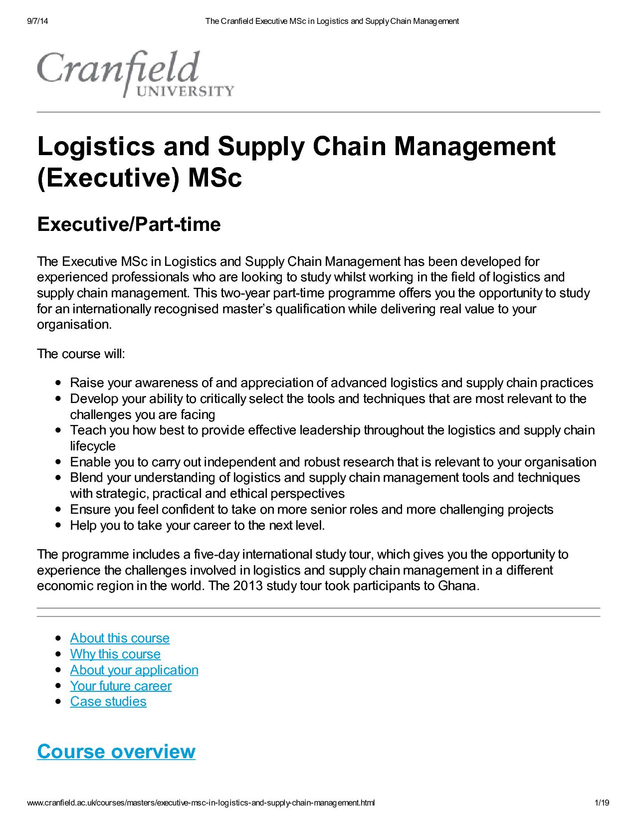 logistics economics and supply chain