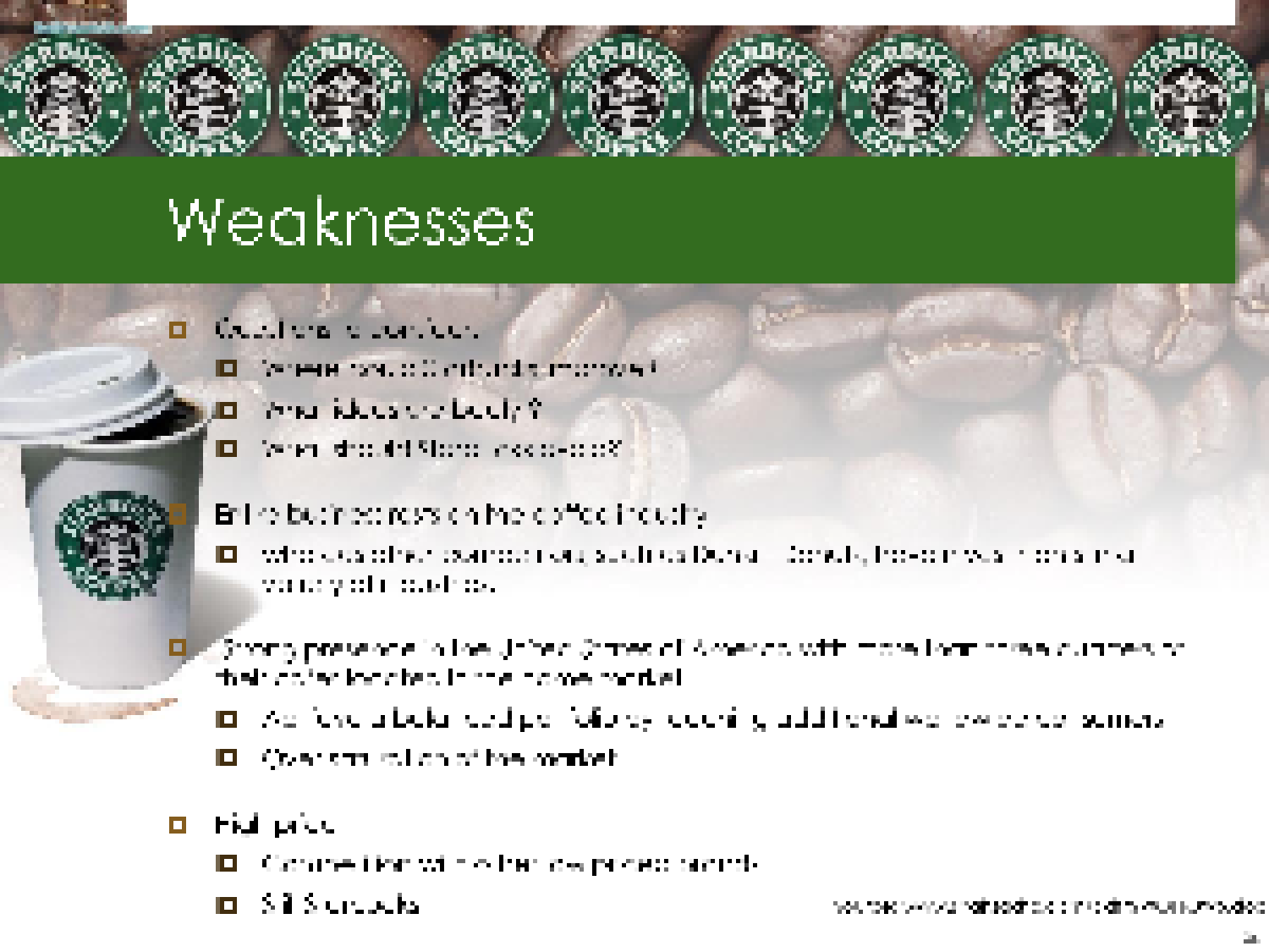 a proposal for starbucks marketing changes Marketing principles starbucks  but his proposal was rejected schultz left starbucks  however changes in taste and brand preferences can affect starbucks.