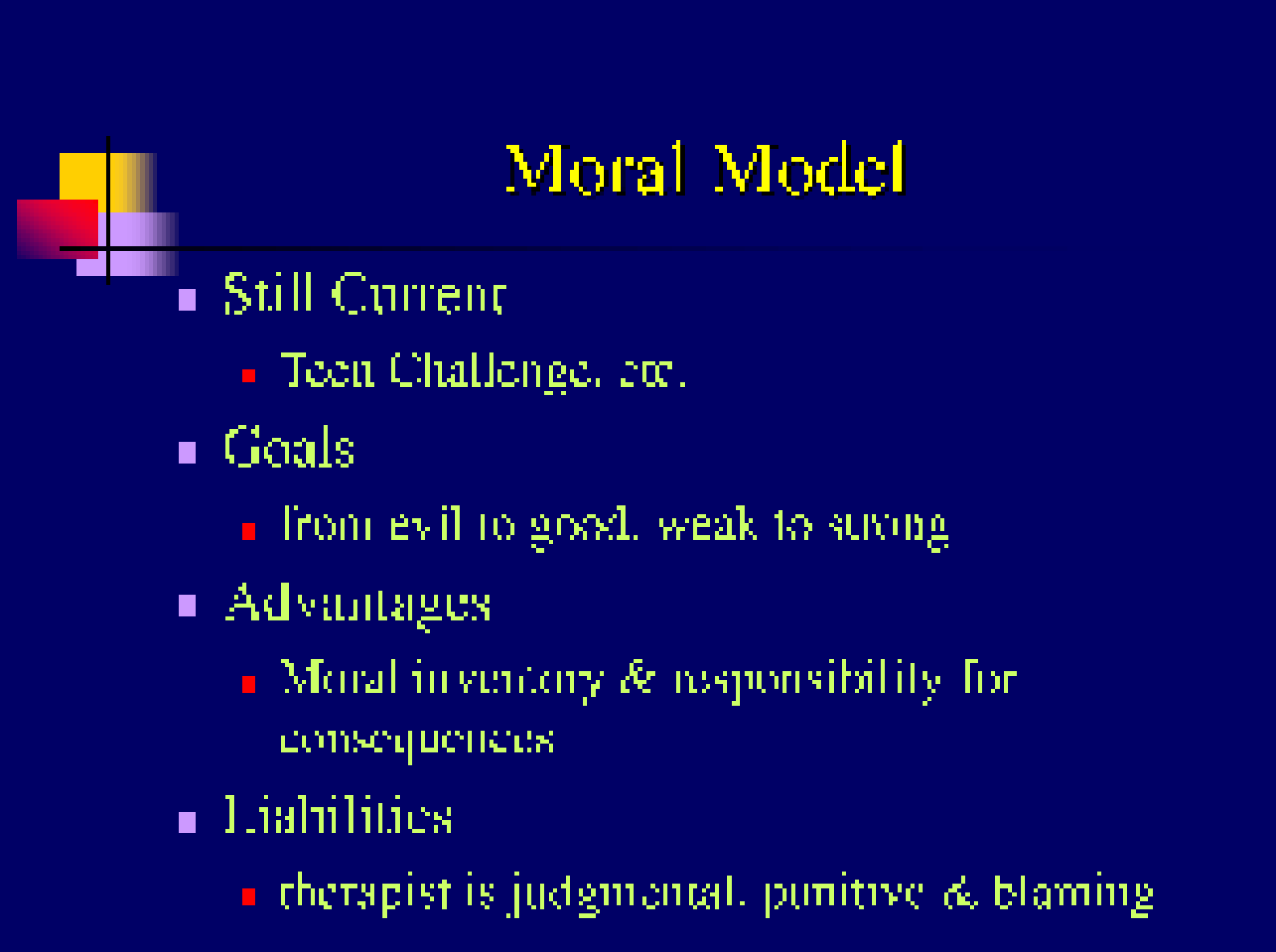 what is the moral model