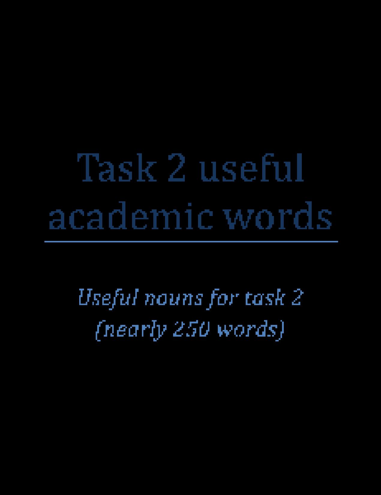 Formal essay words