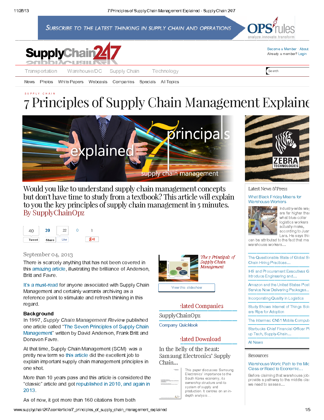 7 principle of supply chain management essay Management principles essay 7 principle of supply chain management chapter review 1-3 principles of supply chain management.