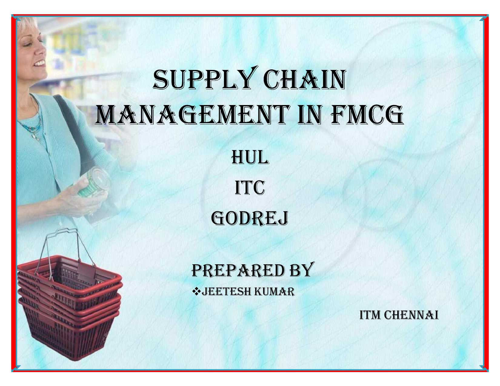 hul supply chain Supply chain management: a study of hindustan unilever limited, 978-3-659-46757-8, 9783659467578, 365946757x, business management, the focus of the book is to understand the hul supply chain in north east india.