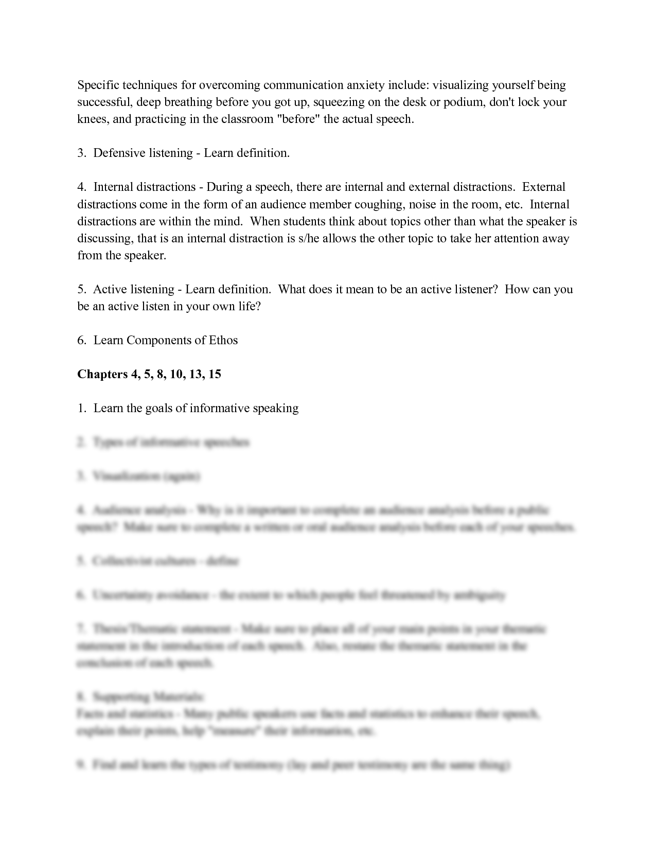 solution public speaking module 4 chapter outline studypool
