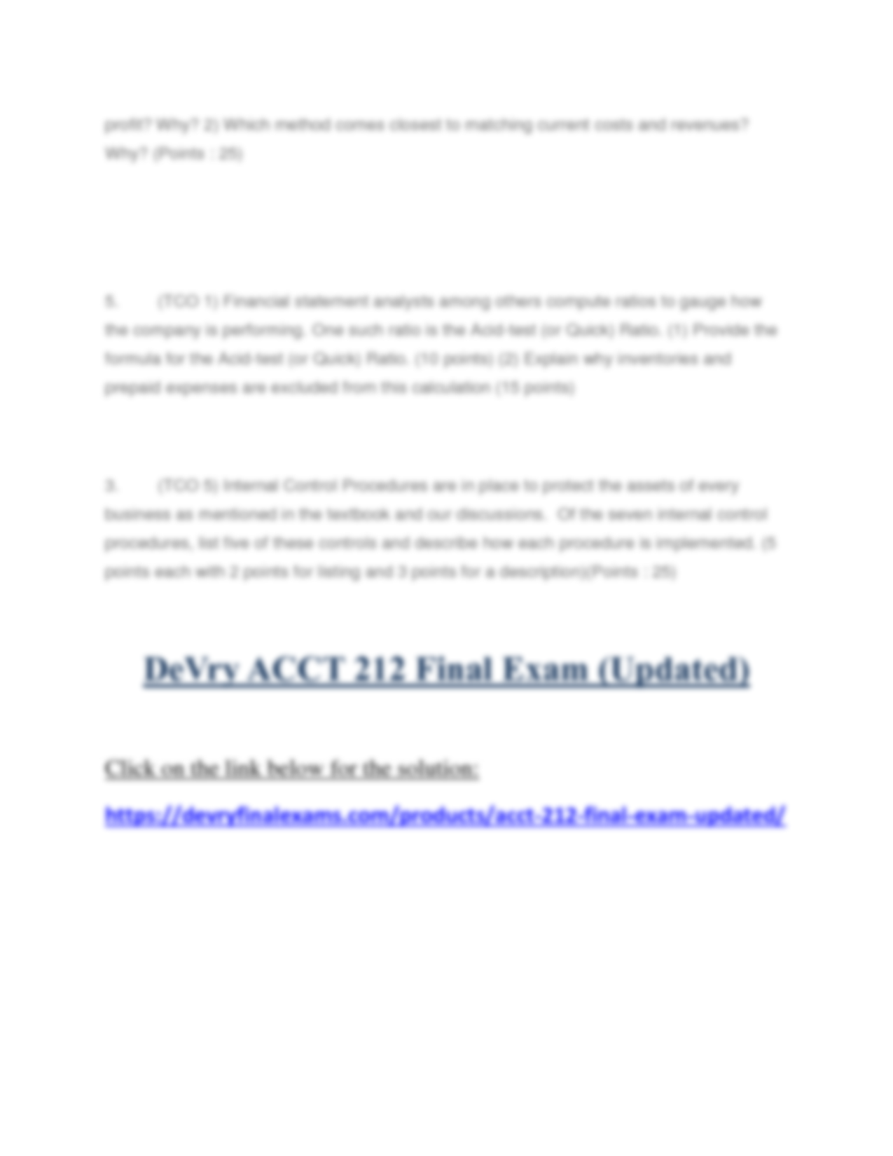 acct 5302 review answers exam 1 Accounting 15511 summer 2004 midterm exam exam guidelines: - you have 80 minutes to complete the exam please use your time efficiently  - important for the auditors that review the financial statements  (a complete numeric answer would require detailed information on depreciation.