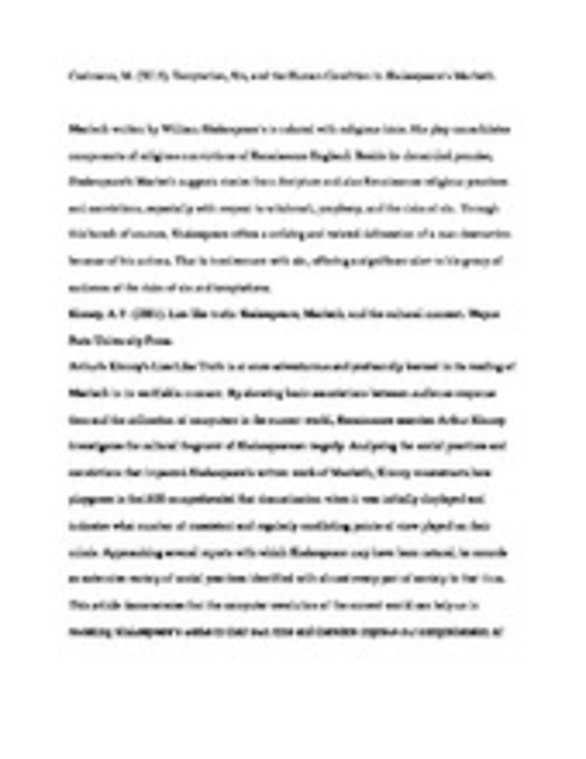How To Write A Proposal Essay Outline Description And Explanation Of The Major Themes Of Macbeth This Accessible  Literary Criticism Is Perfect For Essay Writing Topics For High School Students also Thesis Persuasive Essay Wonderful Resume Many Body Paragraphs Essay Pay To Write Tourism  Science Essay Topic