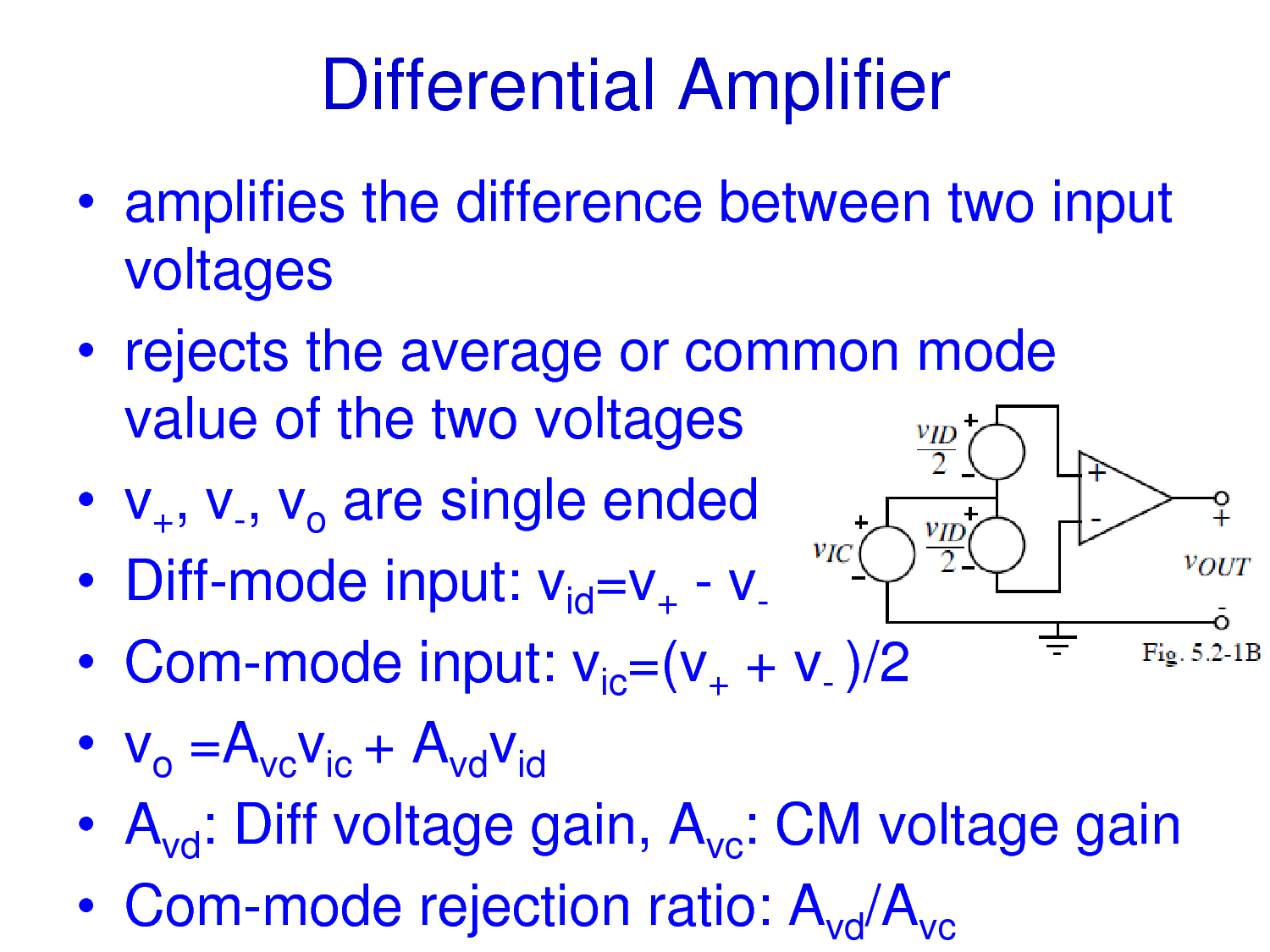 Solution Mosfet Differential Amplifier Studypool Where Can You Find An With A Single Input And What Voltage Amplifies The Difference Between Two Inputvoltages Rejects Average Or Common Modevalue Of Voltages V Vo Are