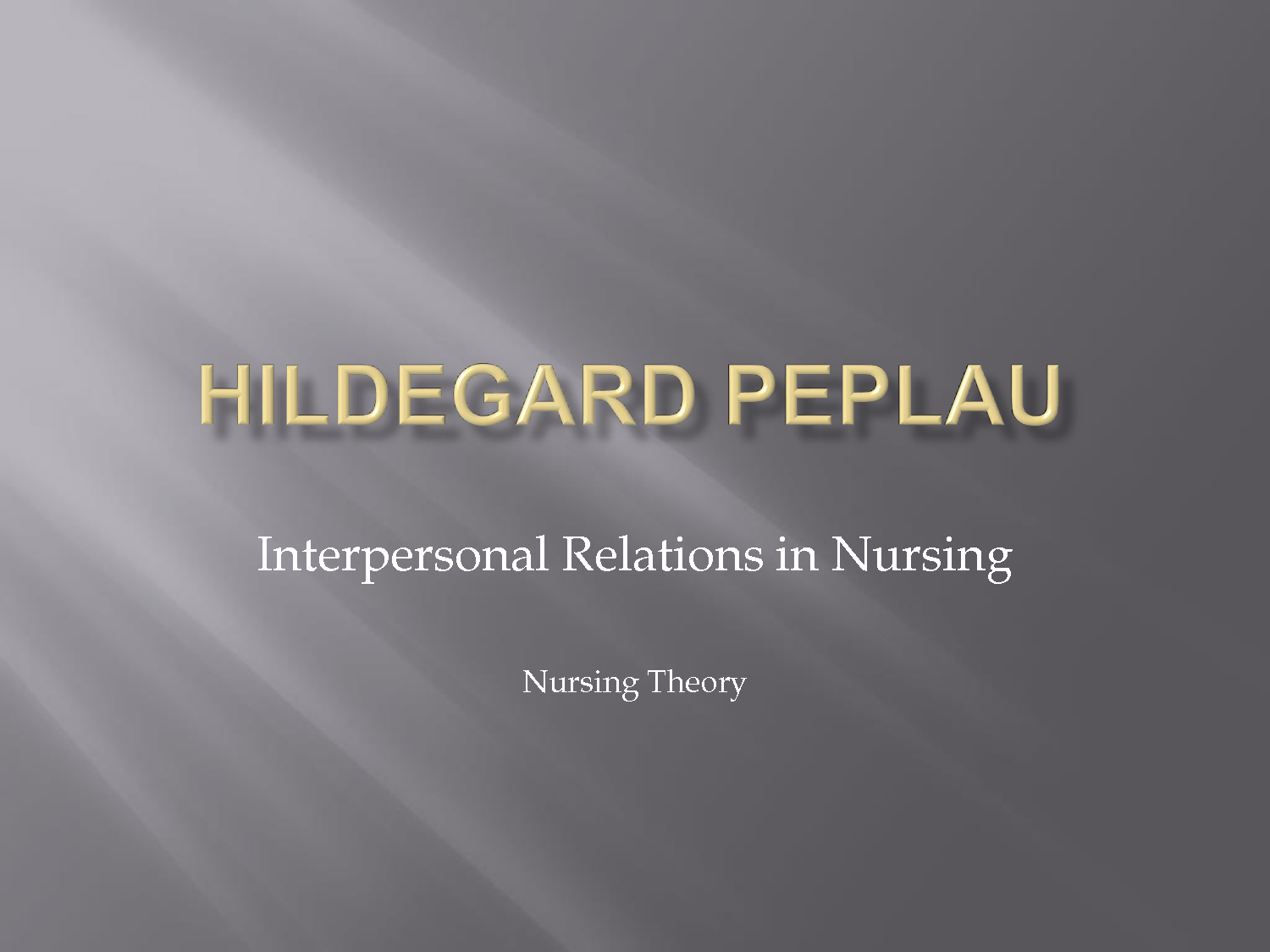 peplau interpersonal relation theory essay This feature is not available right now please try again later.
