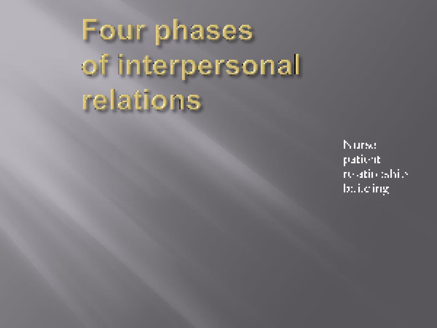 nursing theorist powerpoint presentation peplau s interpersonal interpersonal relations in nursingnursing theoryhildegard peplau published interpersonalrelations in nursing in 1952 changed the nurse patient relationship