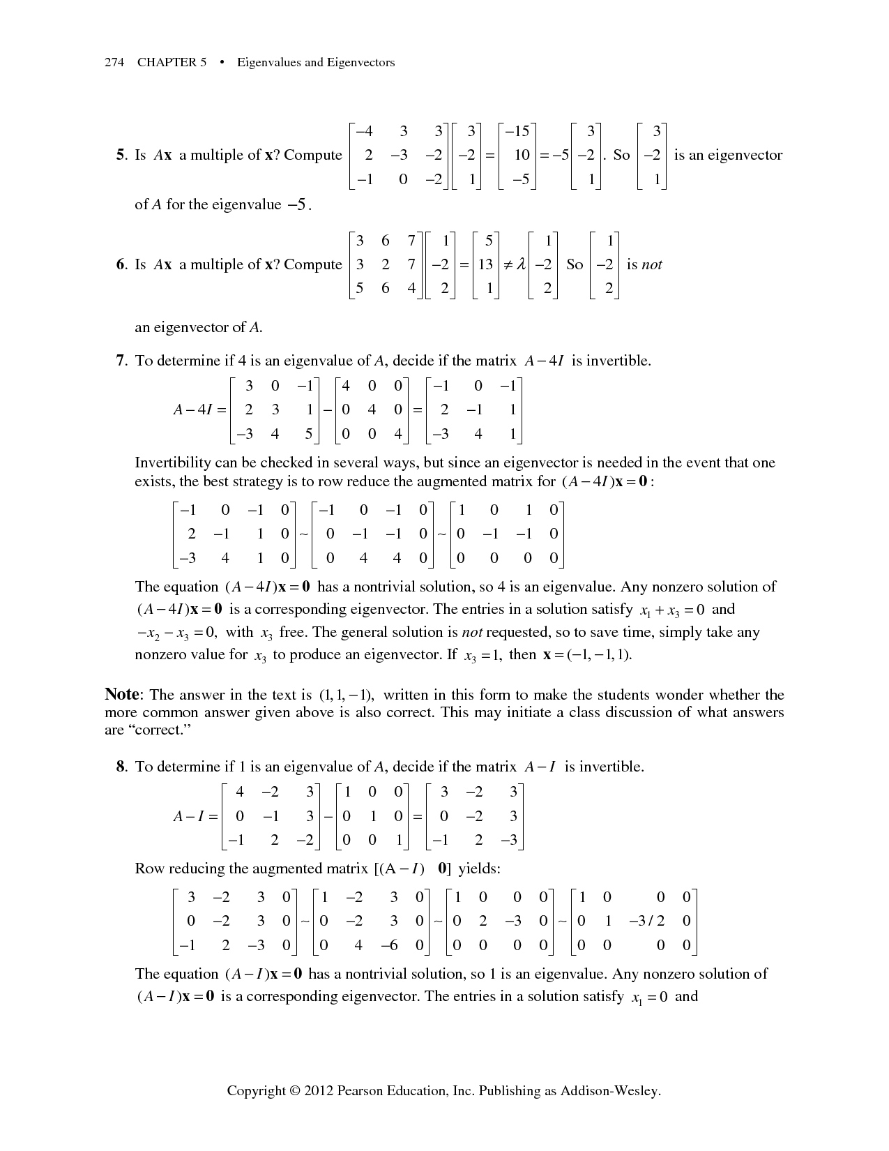 Solution Chapter 5 Solution Manual Of Linear Algebra Book By David