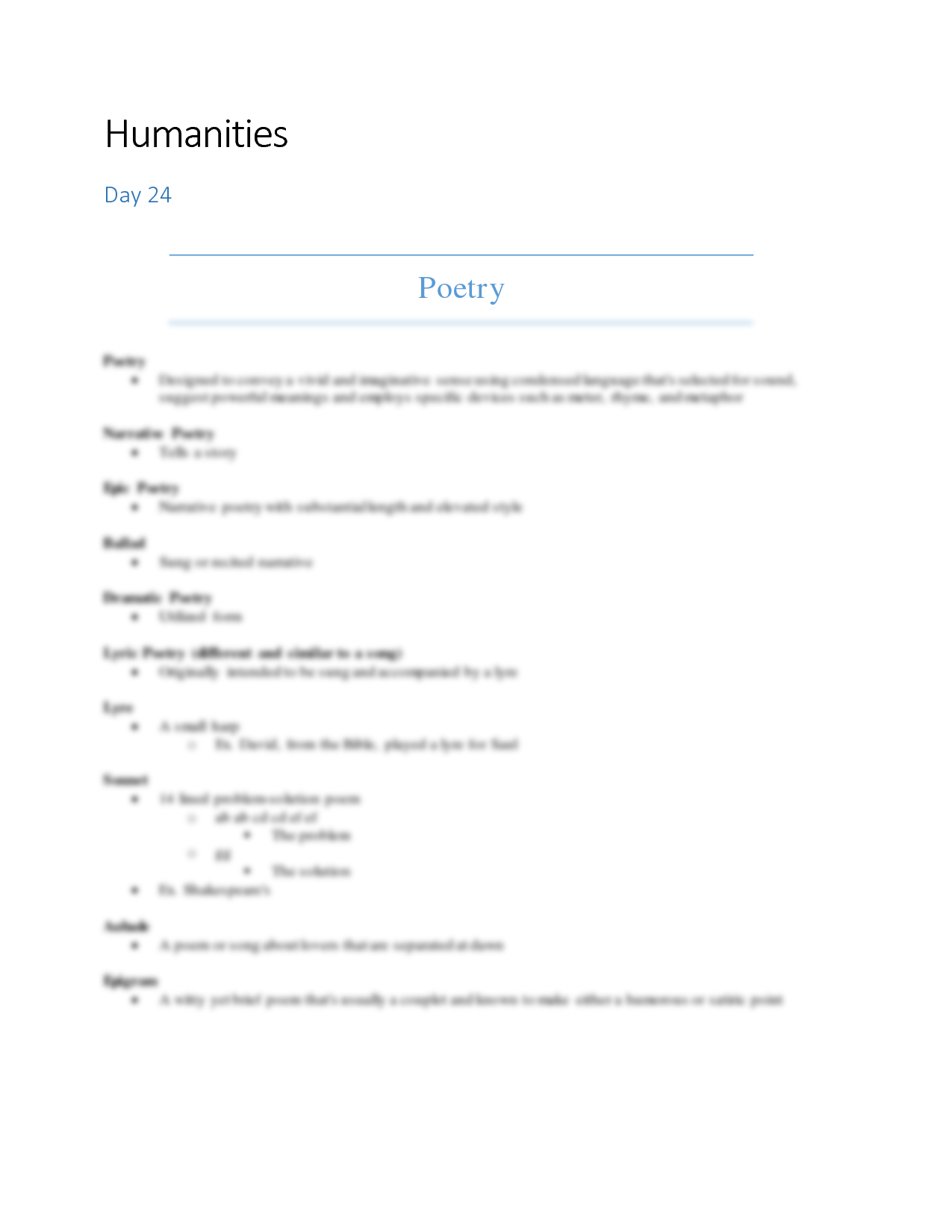solution humanities essays and views studypool humanitiesday 24poetrypoetry designed to convey a vivid and imaginative sense using condensed language that s selected for sound suggest powerful meanings