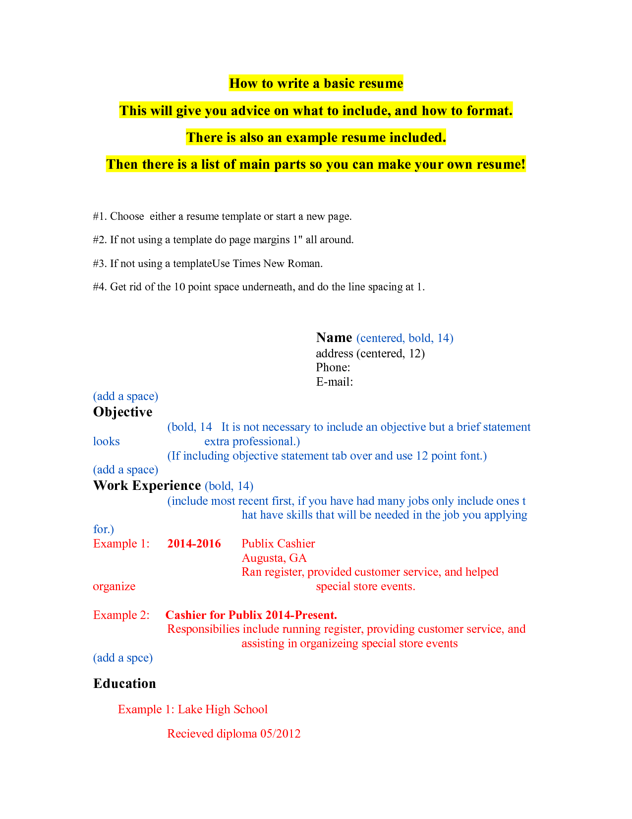 SOLUTION: How to write a resume - Studypool