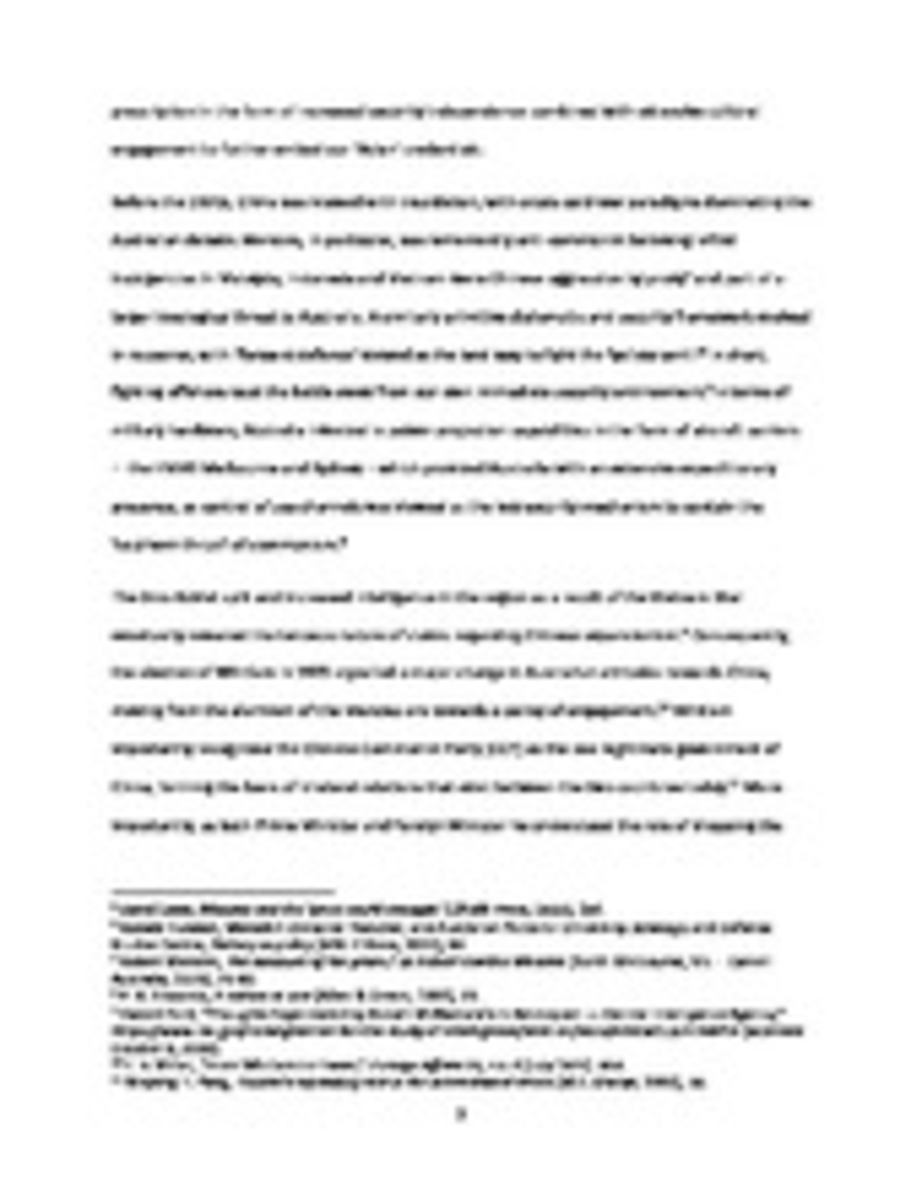 chinese australian relations essay Essay - vietnam war - impact on australia's relations with asia - free download as word doc (doc / docx), pdf file (pdf), text file (txt) or read online for free.