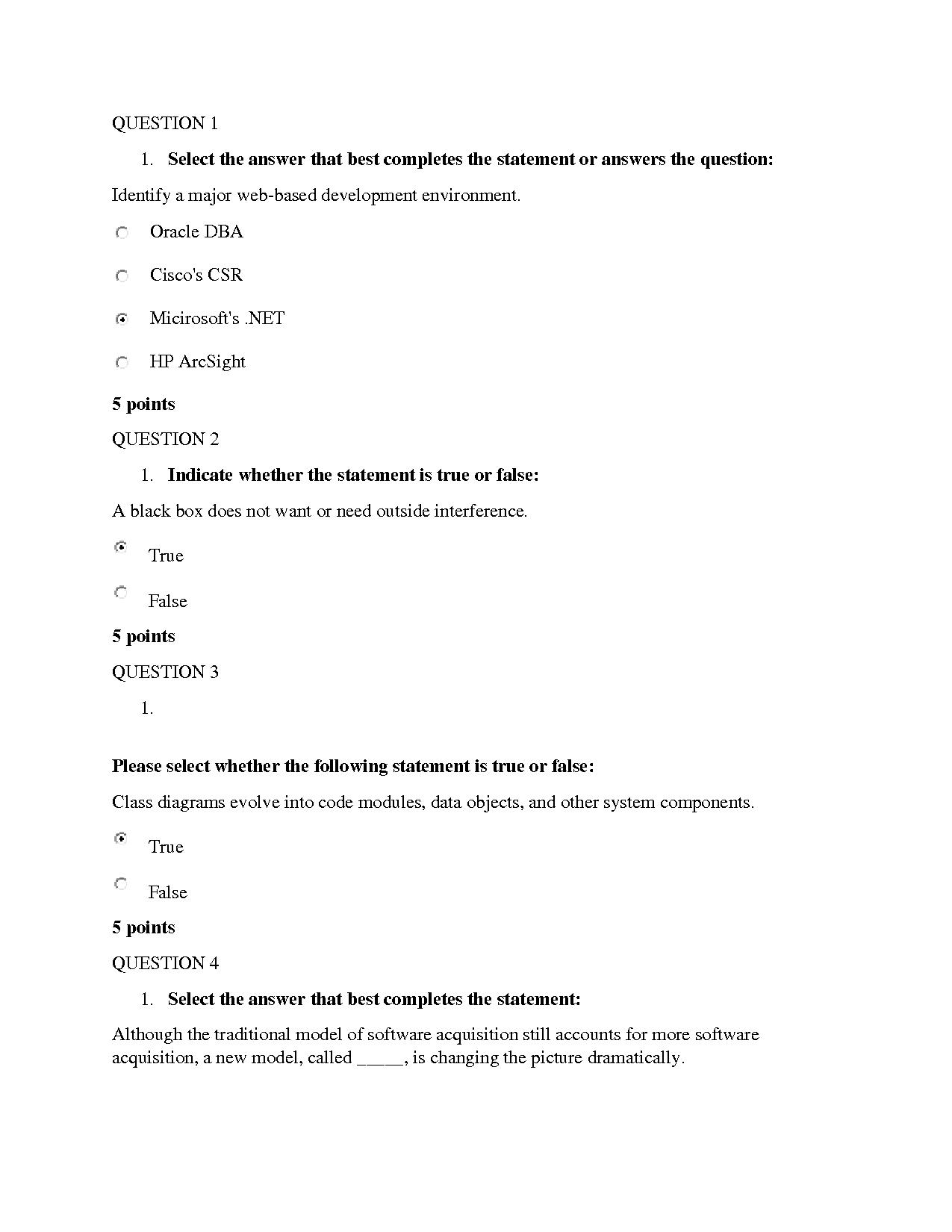 Solution Is336 Grantham Systems Analysis Design Midterm Quiz 4 Help Studypool