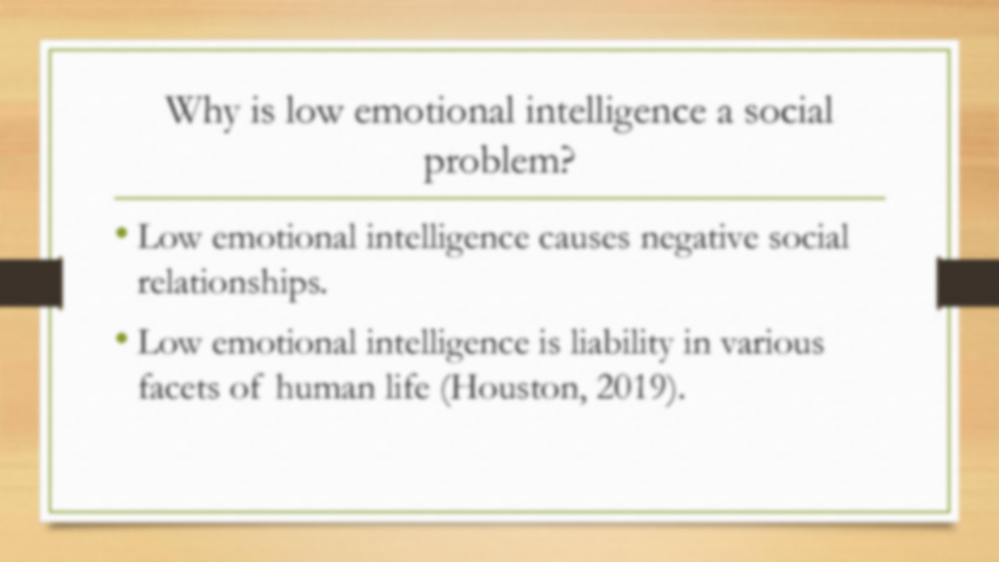 Emotional intelligence what causes low The Low