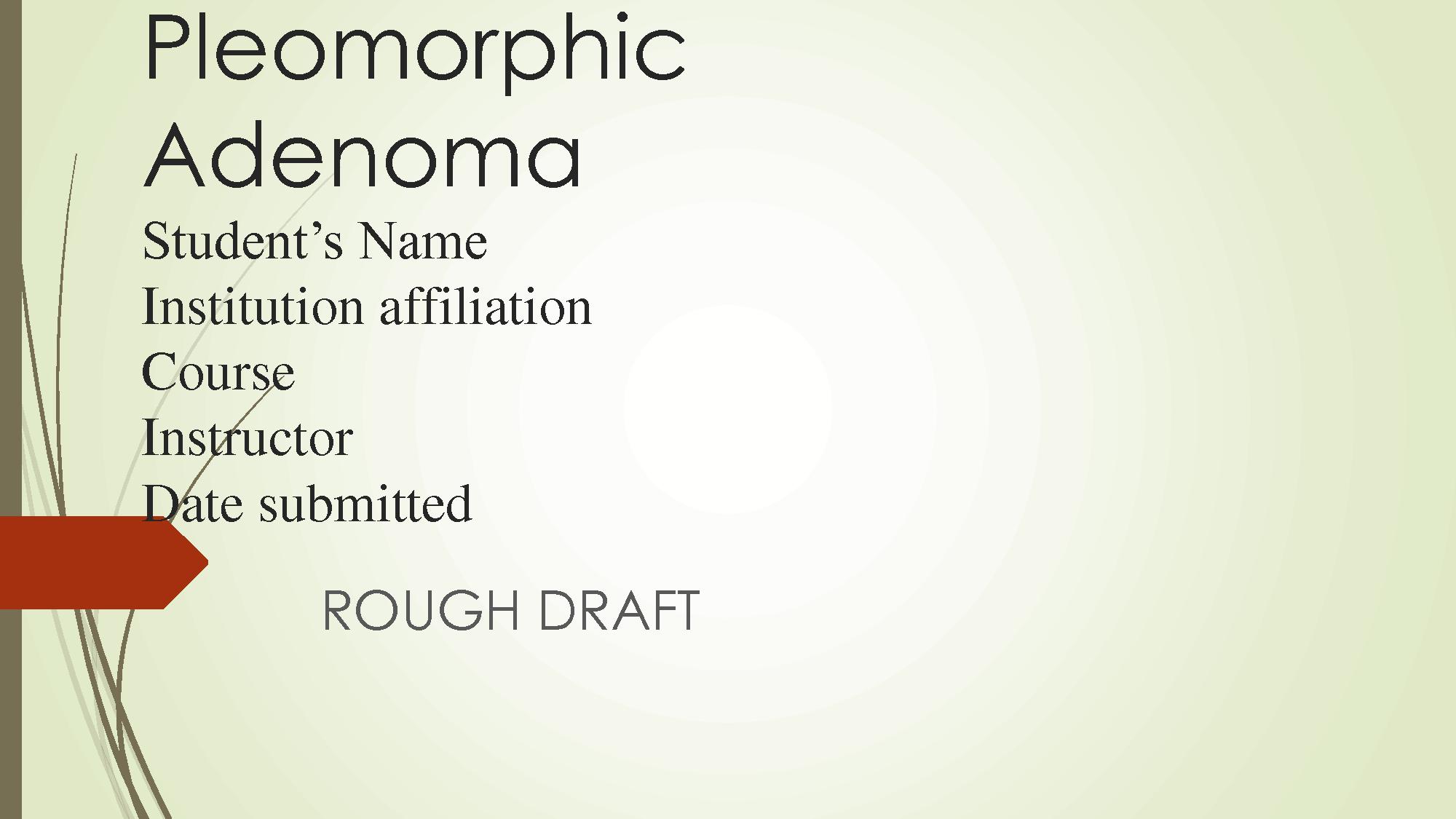 pleomorphic adenoma cytology ppt