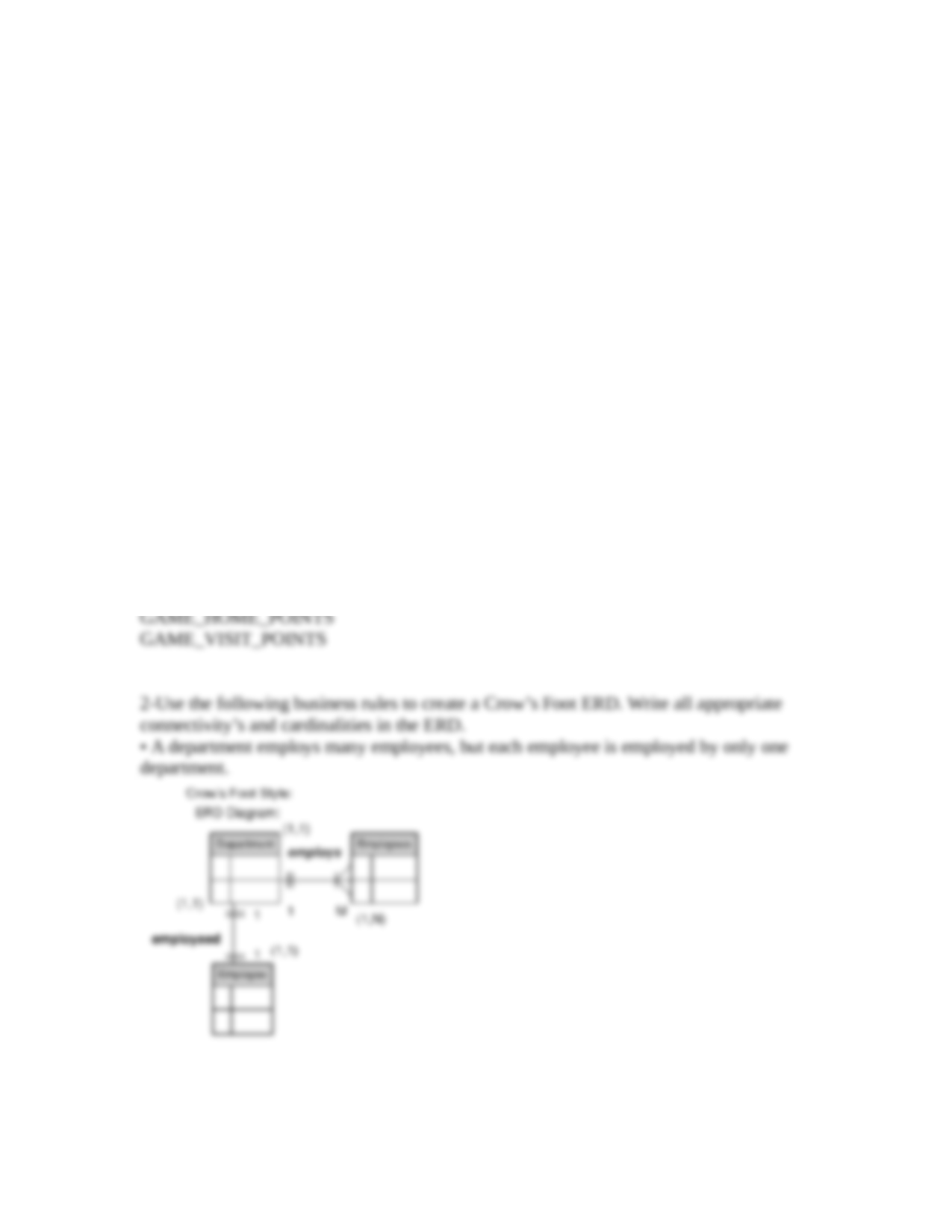 Write all appropriate connectivities and cardinalities in the erd